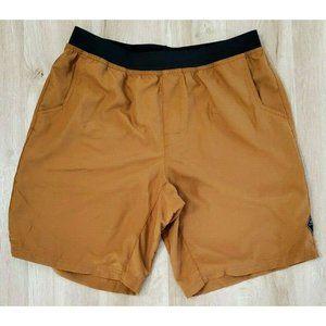 Prana Mens Mojo Brown Shorts Size XL